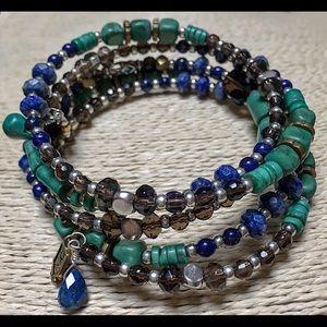 SILPADA Sterling Wrap Bracelet Lapis Howlite